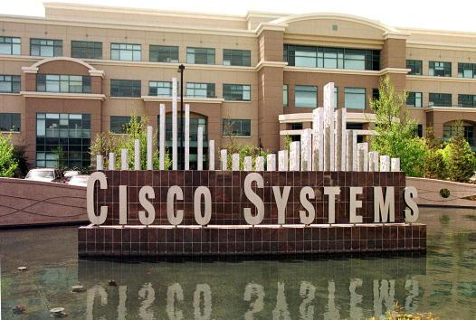 Fountain with Cisco Systems name