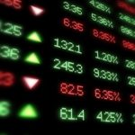 Stock prices on screen